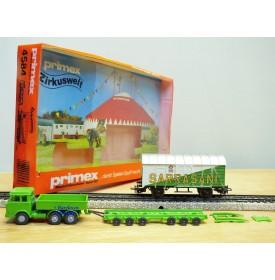 PRIMEX ( Märklin )  4584, Camion et wagon cirque SARRASANI  Neuf  BO