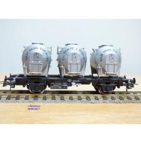 ROCO 47599,  wagon plat  porte conteneur DE PORTE A PORTE  SNCB     Neuf   BO