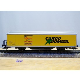 Märklin 4735,991  / 2000707,  wagon couvert  type Hbils  CARGO DOMIZIL  PLANZER  KUONI  SBB  neuf   BO