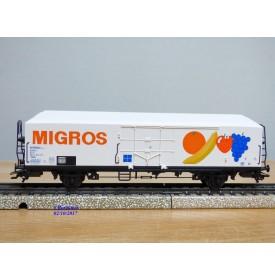 Märklin 4738,  wagon couvert réfrigérant  MIGROS  FS    neuf   BO