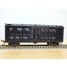TENSHODO ???, wagon à claire voies pour transport de bétail ( stock car ) des chemins de fer américains  neuf   BO