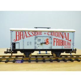 ETS  443, wagon réfrigérant type P  Brasserie du Cardinal  SBB neuf  BO