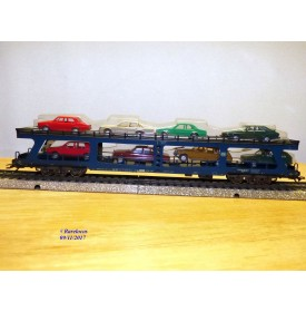 Märklin 4234,  wagon porte autos type DDm 915 chargé 8 autos DB  neuf   BO