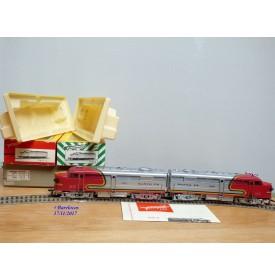 FLEISCHMANN 1341/2 S,  couplage locos diesel ALCO FA1 A+A   SANTA FE  neuf  BO