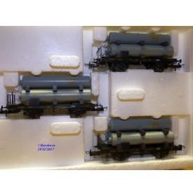 TRIX 23915, coffret 3  wagons Gaswagen   Königlich Bayerische Staatsbahnen   K.B.Stb.  Neuf   BO