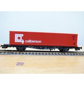 RÖWA 2321, wagon plat porte conteneur   CALBERSON    DB     neuf    BO