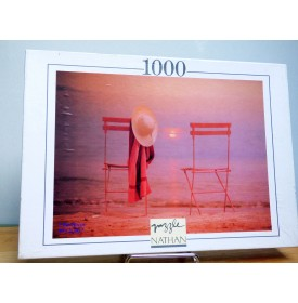 NATHAN 550487, puzzle  1000 pièces  Infiniment Rouge neuf    BO