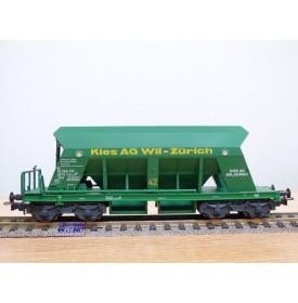 LILIPUT L224634 ,  wagon trémie pour transport de gravier  KIES Ag  Wil  SBB   neuf   BO