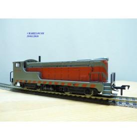 FLEISCHMANN 1340 C, loco diesel Baldwin gris et orange  1340