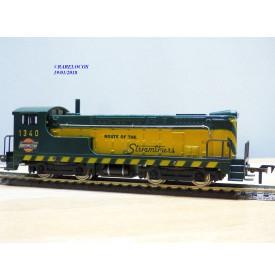 FLEISCHMANN 1340 A, loco diesel Baldwin vert et jaune  1340