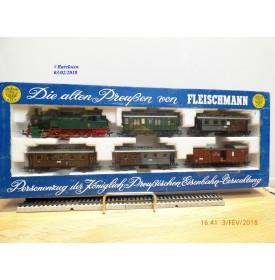 FLEISCHMANN ( pour Märklin ) 4881, coffret   Personenzug der  Preussischen Staatsbahnen KPEV     BO