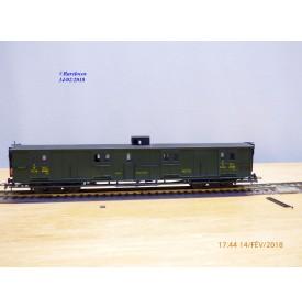 France Trains  259 ,  fourgon grandes lignes à rivets à guérite  type Dd2 yi   PLM   BO