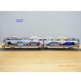 PLAYCRAFT ( JOUEF )   P 6571  wagon porte voitures articulé à 3 essieux STVA SNCF BO BO