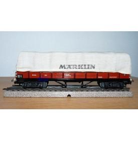 Märklin ancien  393 . 5,  wagon tombereau à bogies DB BO