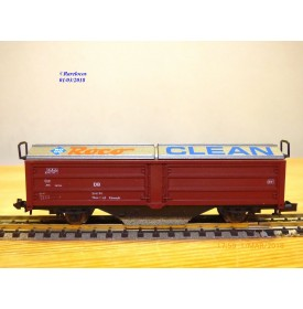 ROCO 2335 A,  wagon à toits coulissants nettoyeur de voies ROCO Clean  DB     BO   N