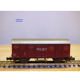 ROCO 2329B  wagon couvert type Ds POST  NS      BO   N
