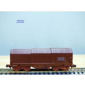 ROCO 2375D, wagon à toit télescopique type Shimms SNCB    BO   N