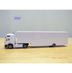 HERPA  143332,  camion et semi remorque porte voiture  fermée  Neuf   BO  1/87