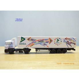 HERPA  184458,  camion et semi remorque MAN  F2000   DEKRA    Neuf   BO  1/87