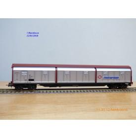 ELECTROTREN 5506 K,  wagon couvert grande capacité à parois coulissantes  type Habis  Deutsche TRANSFESA   DB    neuf   BO