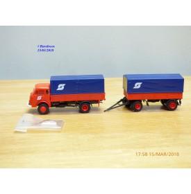 ROCO Minitanks 6002, Camion STEYR  680 et remorque ÖBB      Neuf   BO  1/87  HO