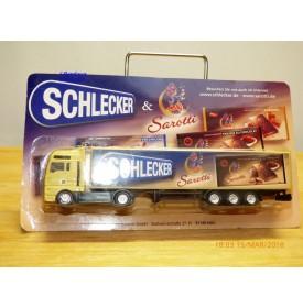 GRELL 9707, camion semi remorque MAN SCHLECKER & SAROTTI      Neuf   BO  1/87  HO