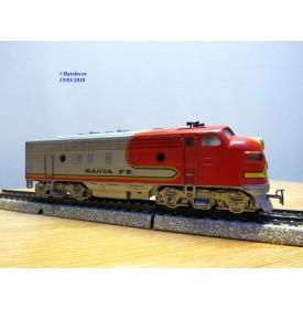 MÄRKLIN  4060.3, locomotive diesel  Bo Bo F7 A non motorisée Santa Fé  AT&SF