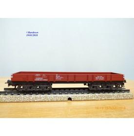 Märklin 4473,  wagon plat   à bogies  type  Rlmms   DB   BO