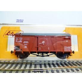 LILIPUT 253 01, wagon couvert  type  Grhs  DR  BO                                 DB BO