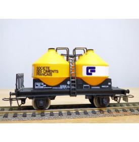 JOUEF  6421, wagon transport de pulvérulent  Société des ciments français SNCF