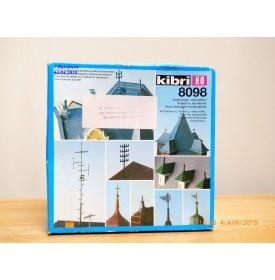 KIBRI  8098, ensemble d' éléments et accessoires de toitures      Neuf   1/87   HO  BO
