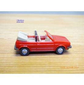 WIKING  ??? ,  Volkswagen Golf décapotable rouge    1/87   HO