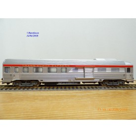 JOUEF  5550, voiture grandes lignes inox mixte 1 Cl. / fourgon  A2Dx  éclairé  TEE PBA   SNCF   neuf   BO