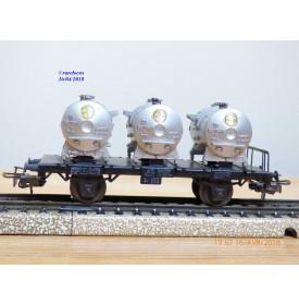 Märklin 4520 . 3,  wagon plat porte conteneurs BAYER   DB