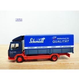 HERPA  145015,  camion bâché MERCEDES BENZ   ATEGO    SCHMIDT     Neuf   BO  1/87