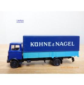HERPA  814294,  camion bâché MERCEDES BENZ   LP 813  KÜHNE & NAGEL   Neuf   BO  1/87