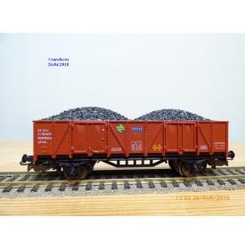 ELECTROTREN  1201, wagon tombereau chargé de charbon   RENFE   BO