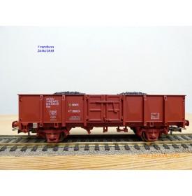 ELECTROTREN  1256, wagon tombereau typeX-1  Elos  chargé de charbon   RENFE   BO