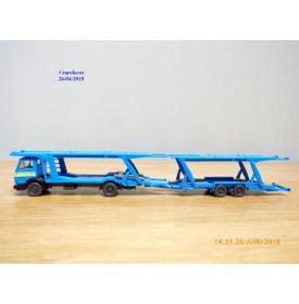 WIKING 27580, camion et remorque porte voitures    MERCEDES BENZ   1622  Neuf  BO  1/87  HO