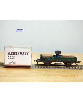 FLEISCHMANN 5201, wagon plat  avec support de flêche de grue    DB   neuf   BO