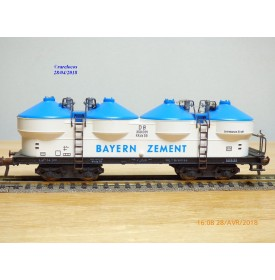 Fleischmann 5480,  wagon trémie silos à ciment  type Kkds 55   BAYERN  ZEMENT   DB    BO