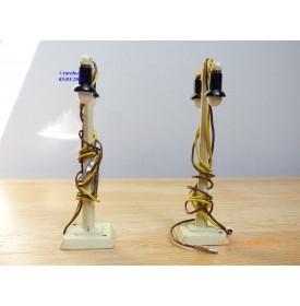 Märklin métal  448/2,  2 lampadaires doubles métal BO