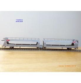 JOUEF 657300,   wagon porte voitures articulé à 3 essieux STVA   type Laes   SNCF  BO