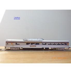 "IHC  47747, voiture grandes lignes ( corrugated side Vista Dome  ) "" Catenary View ""   PRR   neuf   BO"