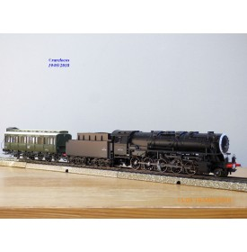 MÄRKLIN  digital 37887, loco Decapod 150 X 1518  et voiture MT   SNCF   neuf  BO