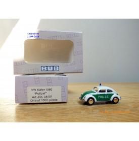 BUB  06101,  Coccinelle Volkswagen VW  police  ( Polizei )   Neuf   BO  1/87
