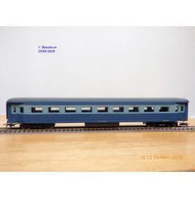 RIVAROSSI  Collesionisti   V ABZ,   voiture grandes lignes mixte de 1 ère et 2 ème classe    type ABz  bleue   FS     BO