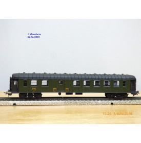 SMCF 470,  voiture OCEM à rivets mixte 2 Cl. /  fourgon  B4 Dmyi 54351   SNCF