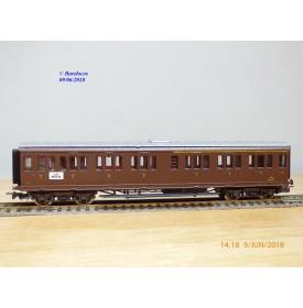 RIVAROSSI  2507, voiture à portières latérales mixte 1/2  Cl. type ABz  N° : 58408  FS   BO