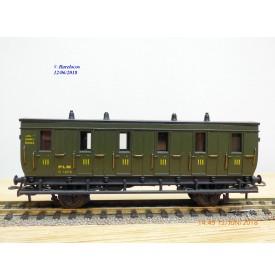 MMM RG  2235, voiture ancienne 3 ème classe  Dames seules  type C 6    N°: 13014  PLM